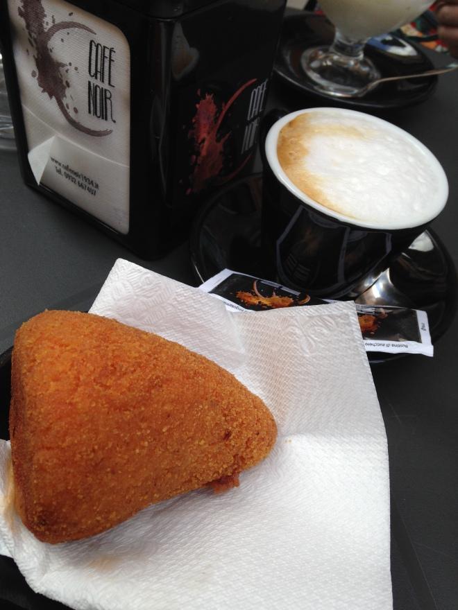 arancina w cappuccino
