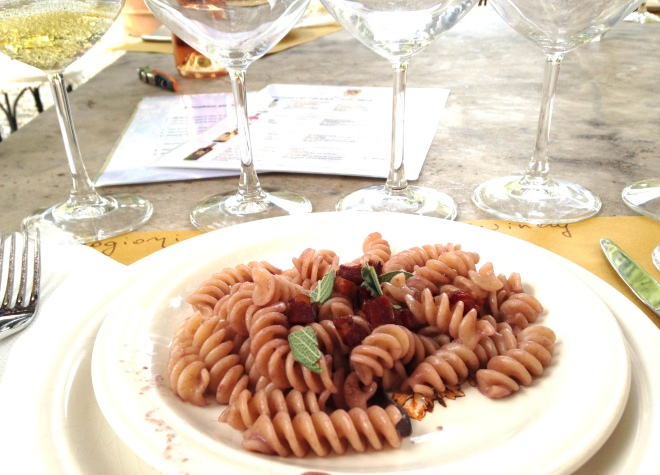 wine pasta