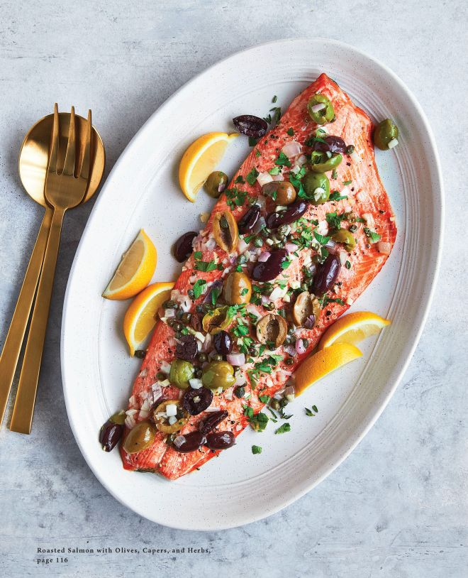Roasted Salmon with Olives, Capers, and Herbs image